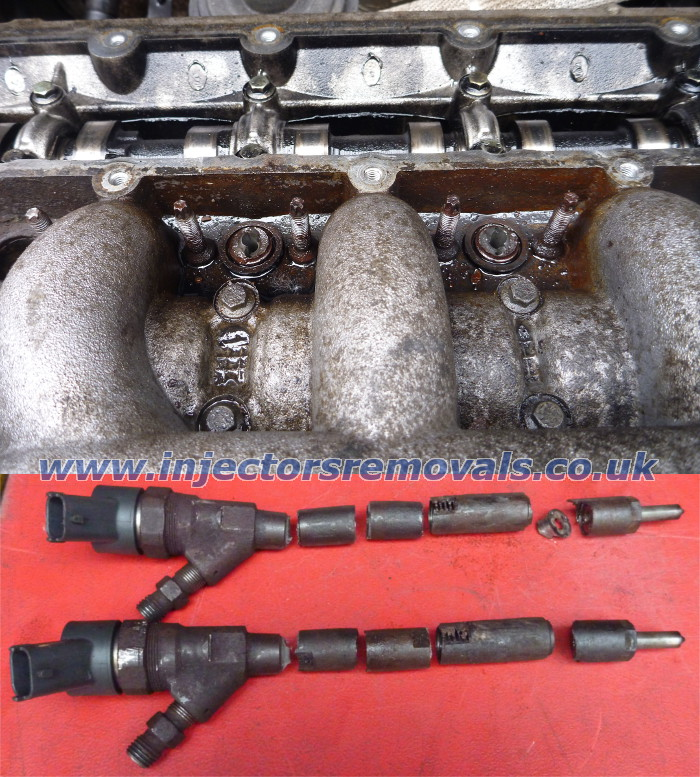 Snapped and welded injector removed from Citroen