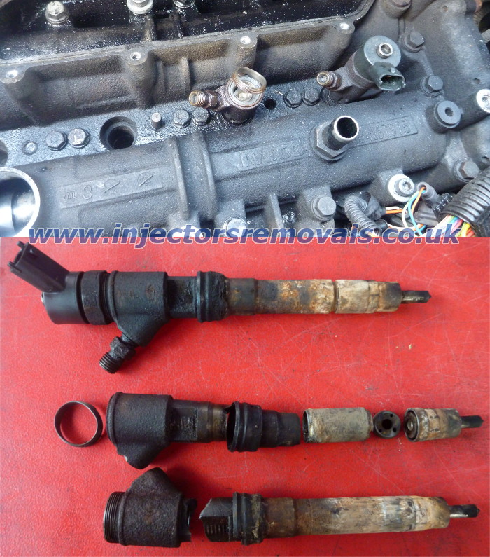 Snappped injector removed from Fiat Ducato with