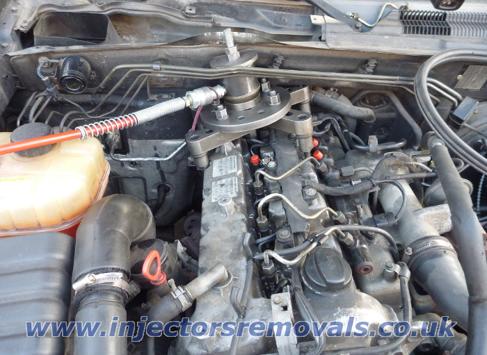 Injector removal from Ssang Yong Rexton with 2.7